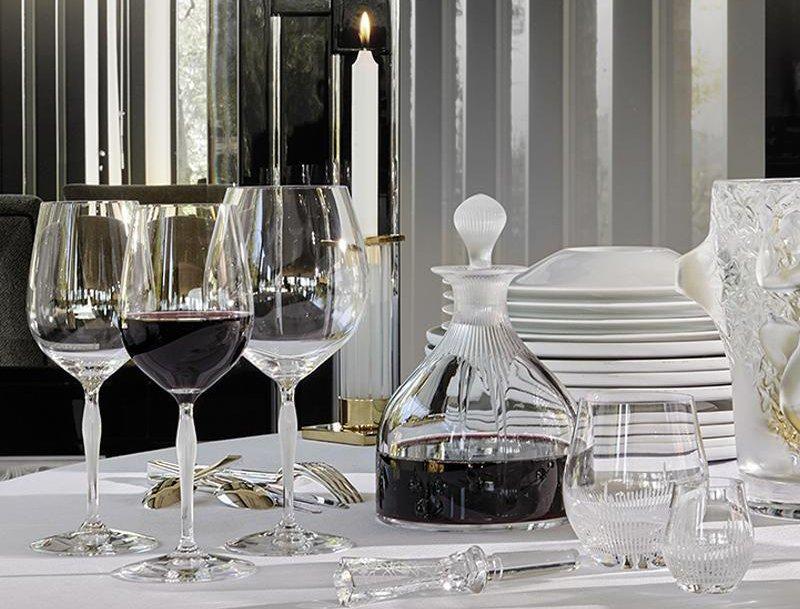 service de table en cristal