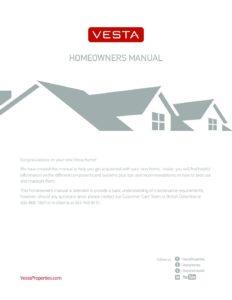 716 - Homeowner Manual — Vesta Properties