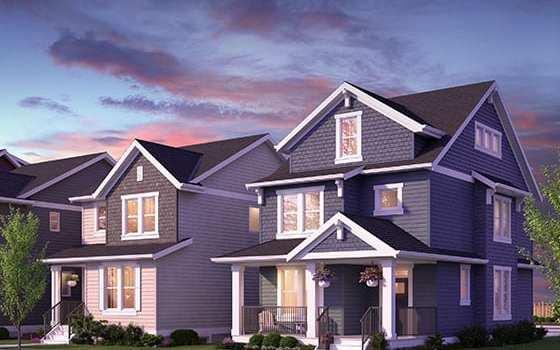 Single Family Lane Homes
