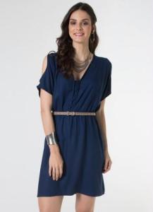 vestido fluido azul mercatto
