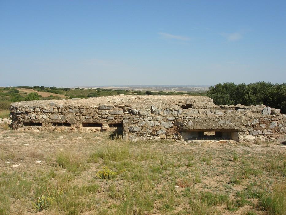 Posición fortificada Vértice Parapetos- Jaulín y Villanueva de Huerva - Archivo fotográfico del Gobierno de Aragón