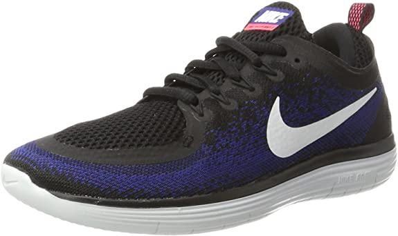 scarpe Nike Free RN Distance 2, Colore Nero Black White Deep Royal Blue Hot Punch