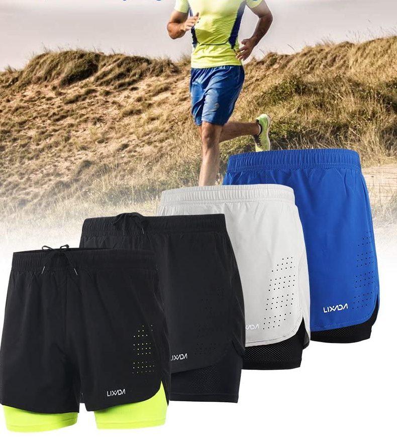 Acquista su Amazon Lixada Pantaloncini da Running da Uomo 2 in 1