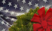 Wreath and Flag image