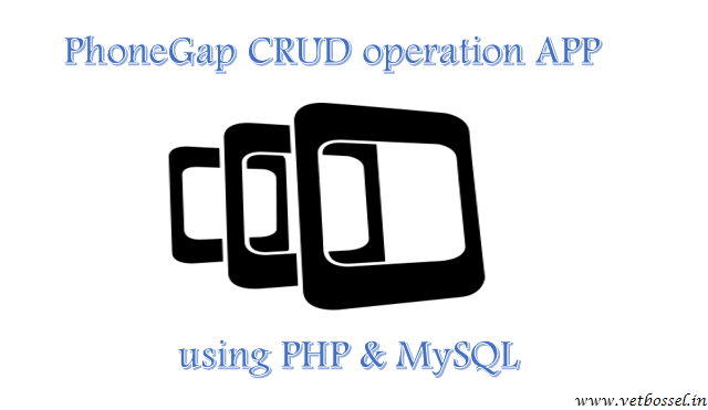 phonegap crud operation app using php mysql