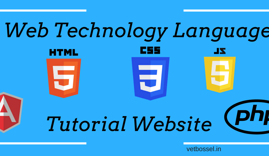 Web technology language tutorial website
