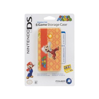 DS Official Nintendo Character 6 Game Storage Case Mario