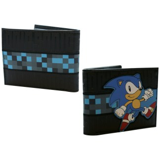 Black Running Sonic Bifold Wallet