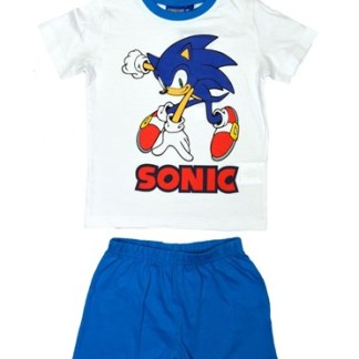 Sonic Blue/White Shortama Maat 3 Jaar