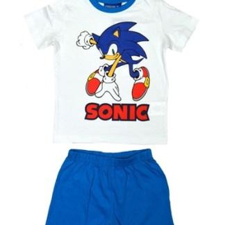 Sonic Blue/White Shortama Maat 3 Jaar