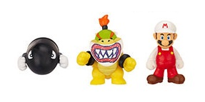 Microset Bullit Bill-Bowser JR-Fire Mario 2cm