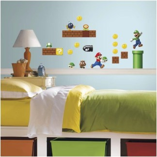 Super Mario Build a Scene Muurstickerset