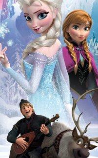 Frozen Anna & Elsa Deurposter 53x158cm