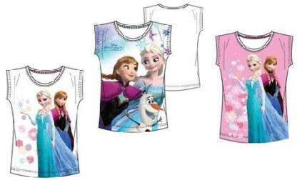 """Disney Frozen T-shirt """"Elsa en Anne Roze"""" 6 jaar"""