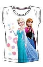 "Disney Frozen T-shirt ""Elsa en Anna Stars Wit ""6 jaar"""