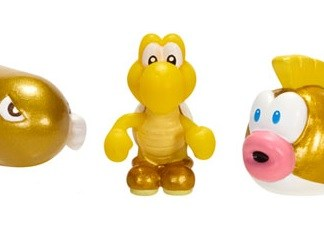 Microset Gold Series Bullit Bill-Koopa Troopa-Cheep Cheep 2cm