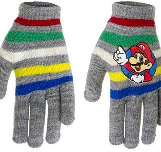 "Super Mario Handschoenen ""striped Grey"""