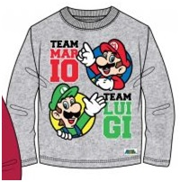 "Super Mario Bros T-shirt Longsleeve ""Team Mario - Team Luigi"" Maat 104"