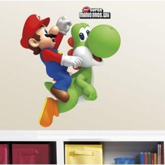 Super Mario Bros WII Wanddecoratie Muursticker