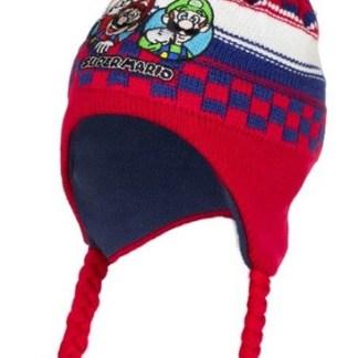 Super Mario Ski Muts rood-blauw maat 54