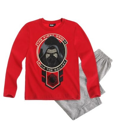"Star Wars-The Clone Wars Pyjama grijs-rood ""maat 128"""