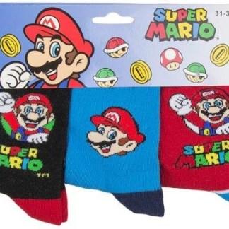 """Super Mario sokken """"3 Pack"""" maat 27/30 Color"""
