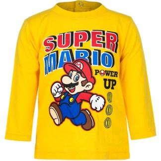 """Super Mario baby t-shirt lange mouw Geel """" 18 maanden"""""""