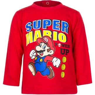 """Super Mario baby t-shirt lange mouw Rood """" 12 maanden"""""""