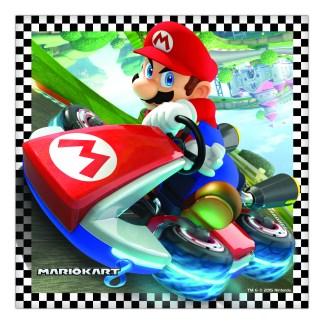 Super Mario Kart Servetten 16 stuks in een verpakking