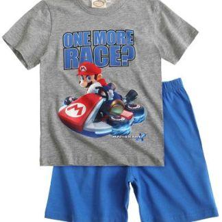 "Super Mario Shortama ""one more race"" grijs - blauw"