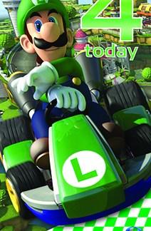 """Mariokart 8 """"4 today Verjaardagskaart"""""""