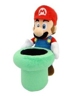 Super Mario Bros Mario Warp Pipe Knuffel 23cm