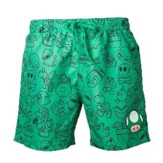 Nintendo - Green Mushroom Zwemshort