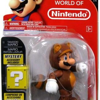 """Tanooki Mario actie figuur 10 cm """"met mysterie box"""""""