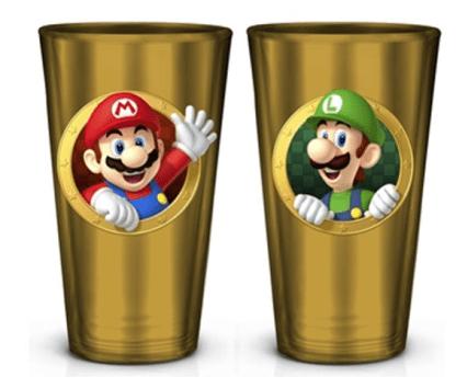 Super Mario glazen drinkbekers