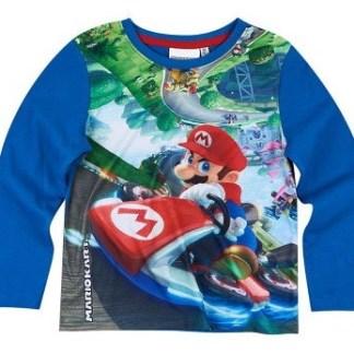 """Super Mariokart T-shirt lange mouw """"maat 128"""""""