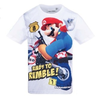 Super Mario T-shirt korte mouw wit