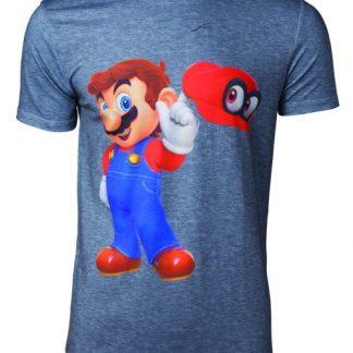 Super Mario- Odyssey Mario & Cappy heren T-Shirt
