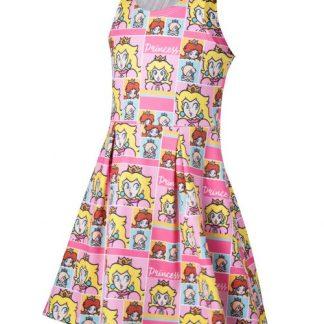Super Mario - Princess Peach jurkje roze