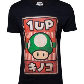 Super Mario - T-shirt heren Propaganda Poster Inspired 1-up Mushroom