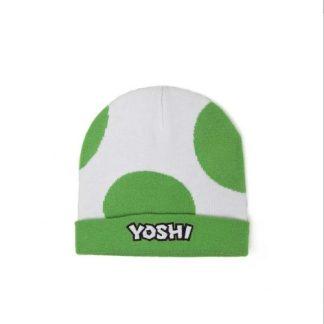 Super Mario - Yoshi logo Striped Beanie - Muts groen