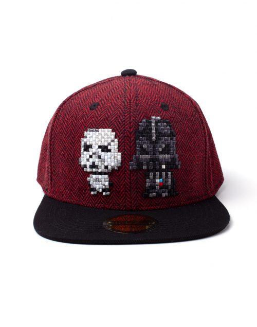 Starwars Kersttrui.Star Wars Pixel Darth Vader Stormtrooper Cap