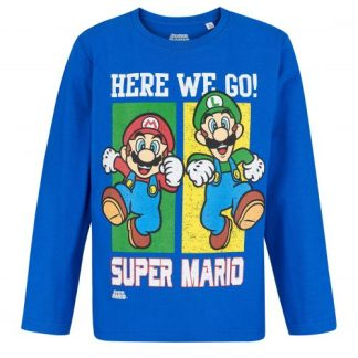 Super Mario - Super Mario T-shirt here we go lange mouw