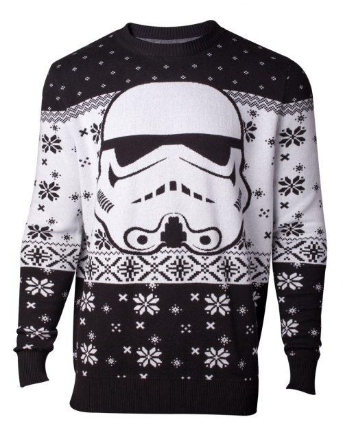 Starwars Kersttrui.Star Wars Stormtrooper Head Gebreide Kersttrui