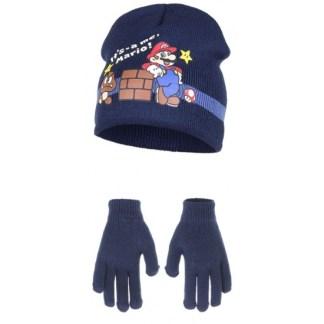 Nintendo - Super Mario muts met handschoenen blauw