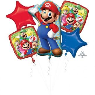 Super Mario folieballonnen set 5 stuks in de verpakking