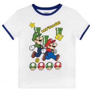 Nintendo - Super Mario t-shirt kids let's a go wit