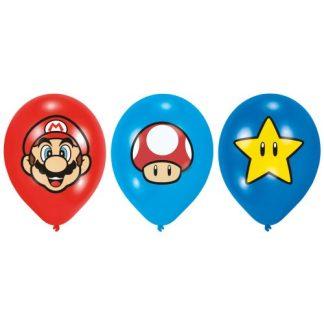 Super Mario - Super Mario ballonnen 6 stuks in de verpakking