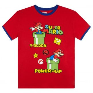 Super Mario T-shirt Kids Block Power Up