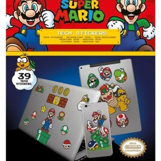 Super Mario Mushroom Kingdom- Tech Stickers 36 in de verpakking